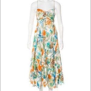 Diane von Furstenberg tropical silk midi dress 0